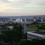 Vista do quarto para a área central de Brasília