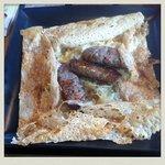 Galette La Toulouse ~ made from Hokkaido buckwheat, with Hokkaido pork sausage, Niseko onions...