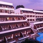 Hotel at sunset