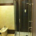 New clean shower