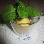 Sour passion fruit sorbet