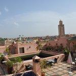 la terrasse- certainement l'atout de ce Riad