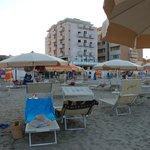 vista dalla spiaggia