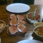 selection of tapas from la roca