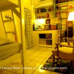 The Library Room- a favorite for book lovers! You can play on the ladder