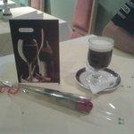 My birthday card, beautiful red rose and delish Irish coffee mmm!