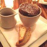 Individual chocolate soufflé