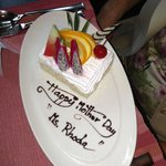 The beautiful inscription done by hotel staff.