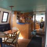 Refreshment area on board the cruise