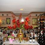Floral arrangement as you enter