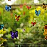 hand-made painted butterflies