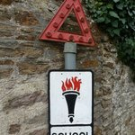 A Challenge!  Go and find this 50+ year old road sign still in use in a nearby village