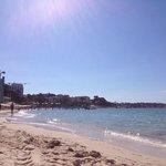 spiaggia vicinissima all'albergo