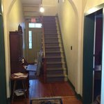 Entryway leading upstairs to rooms