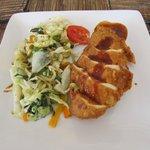 Chicken and steamed veg.