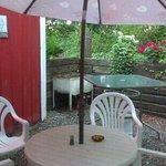 Outdoor bar area too