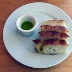Focaccia and Basil Garlic Olive Oil