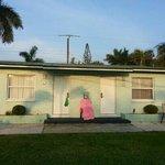 outside motel room