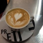 A coffee made by the trained baristas at Brownz Courtyard cafe