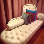 lounger in room