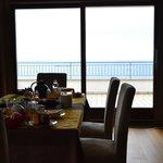 vista sala da pranzo su terrazza