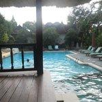 suasana salah satu kolam renang yang tersedia