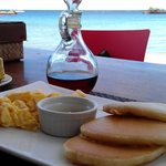 Breakfast at the beach bar