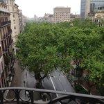 view down passeig de gracia