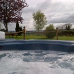Hot tub view over garden