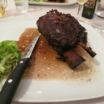 pork shank marinated in red wine and prunes