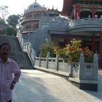 infront of Chaitany Jyoti Museum, Puttaparthi