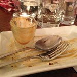 the afterwards of a most scrumptious homemade sticky toffee pudding!
