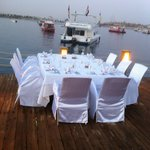 Gala Setup for Dinner at On Deck Floating Restaurant
