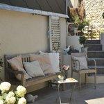 Jardin Honfleur Garden pause détente terrasse ensoleillée Honfleur