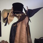 The quirky coat stand in the hallway complete with witches hat!