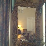 A lovely 19th century mirror in the dining room