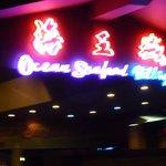 The Ocean Seafood Village Entrance Neon Lights