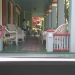 The beautiful front porch