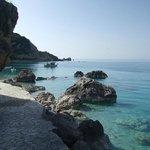 the nearest beach Agios Nikitas