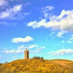 View from our dining table up to Scrabo Tower