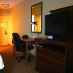Desk and TV cabinet in room 694