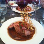 Nice and juicy Roasted Veal with Truffel Sauce