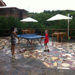 Playing table-tennis (again!).