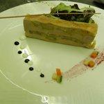 Foie gras marbré aux pommes et pain d'épice