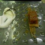 Tarte tatin revisitée, glace vanille et son émulsion aux pommes