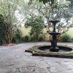 Courtyard patio to enjoy breakfast