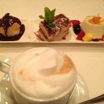 Dessert Sampler and Cappuccino @ Michael Anthony