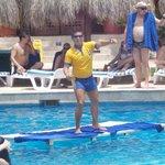 Senior Mauricio and water aerobics.