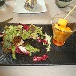 Manchgo mariné au thym piment d'Espelette mesculin de salade