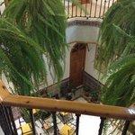 de binnen patio